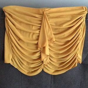 yellow ruffle crop top